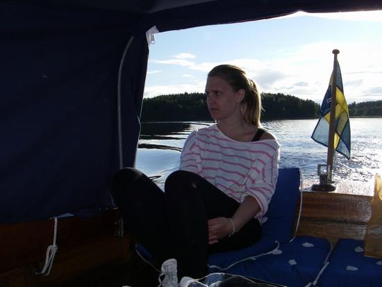 Sofia i båt